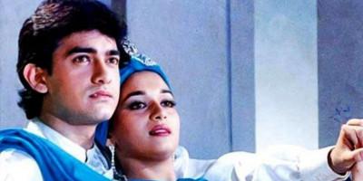 """30 Tahun Lalu! Madhuri Dixit Kenang Momen Bareng Aamir Khan Saat Syuting Film """"Dil"""""""