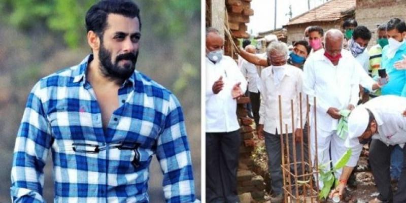 Salman Khan Bangun 70 Rumah Korban Banjir
