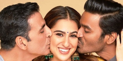 "Akshay Kumar-Sara Ali Khan-Dhanush Mulai Syuting Bareng untuk ""Atrangi Re"""
