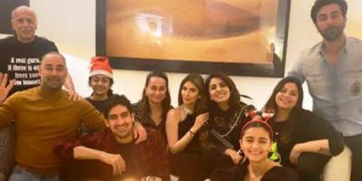 Keluarga Alia Bhatt dan Keluarga Ranbir Kapoor Rayakan Natal Bersama