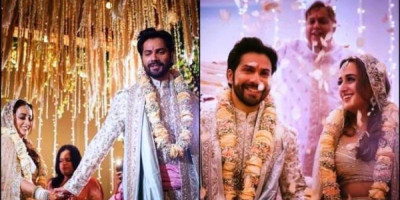 Varun Dhawan dan Natasha Dalal Resmi Jadi Suami-Istri